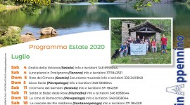 Calendario escursioni in Appennino ESTATE 2020